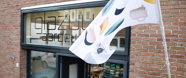 glazuur aardewerk winkel voorzijde